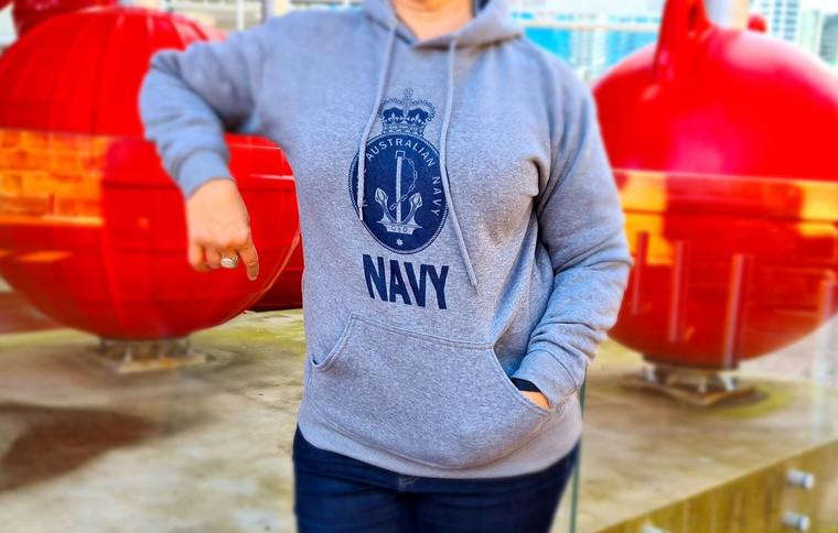 Hoodie - Royal Australian Navy (Grey Marle) (5822)