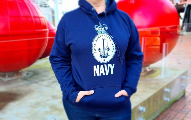 Hoodie - Royal Australian Navy (Navy) (5820)