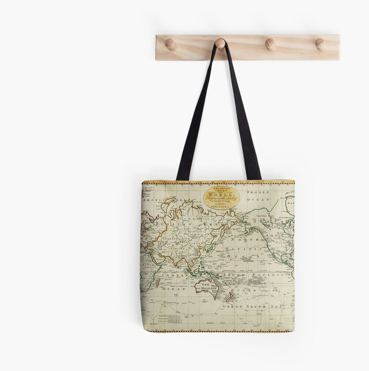 Tote Bag - Captain James Cook's Map (9000)