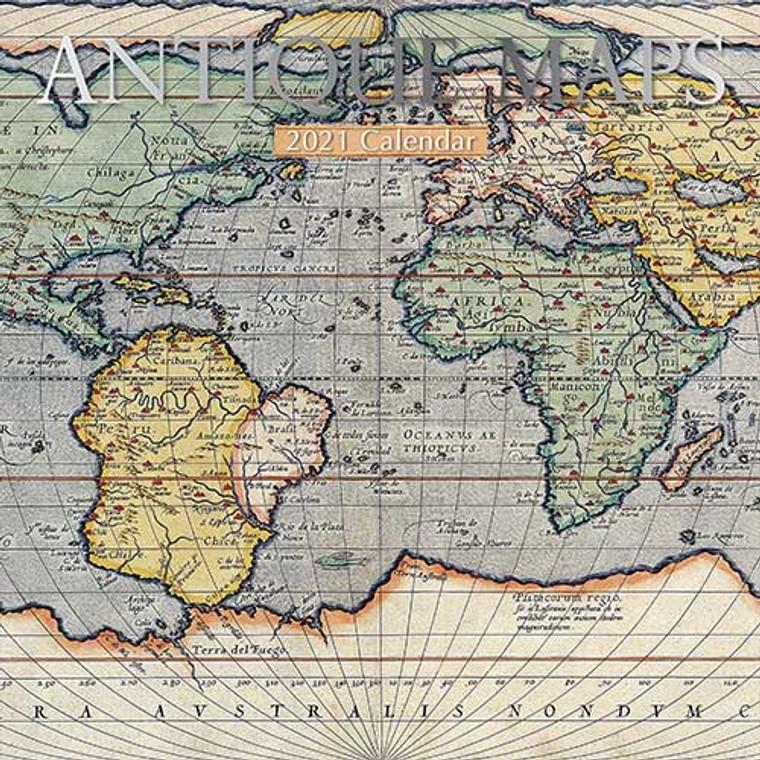 2021 Calendar - Antique Maps (16-Months) (9106)