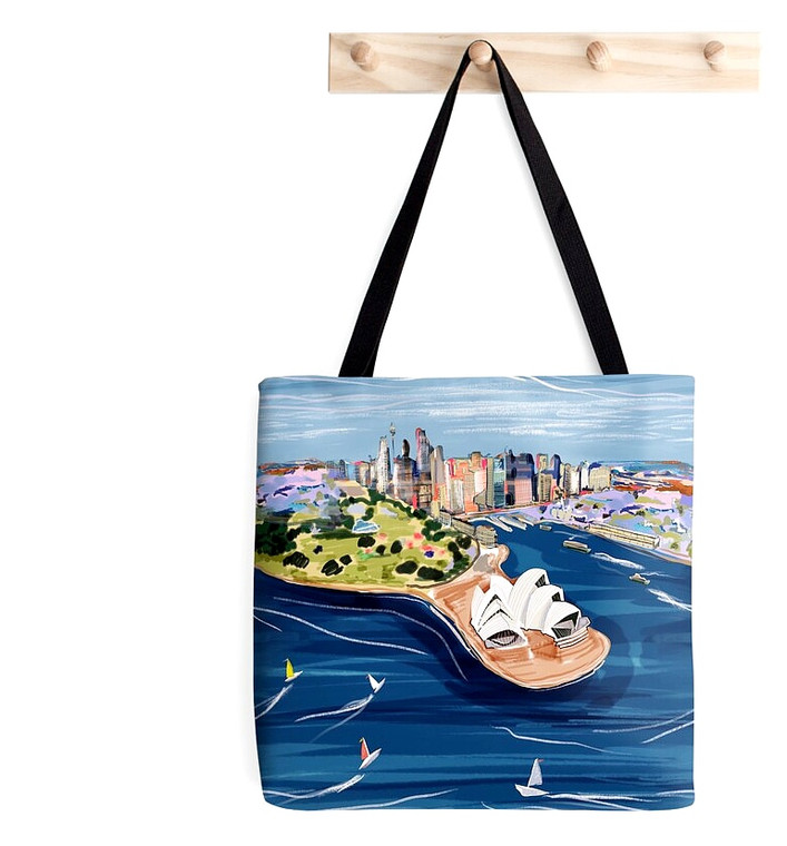 Tote Bag - Sydney Harbour Opera House by Robyn Hammond (4474)