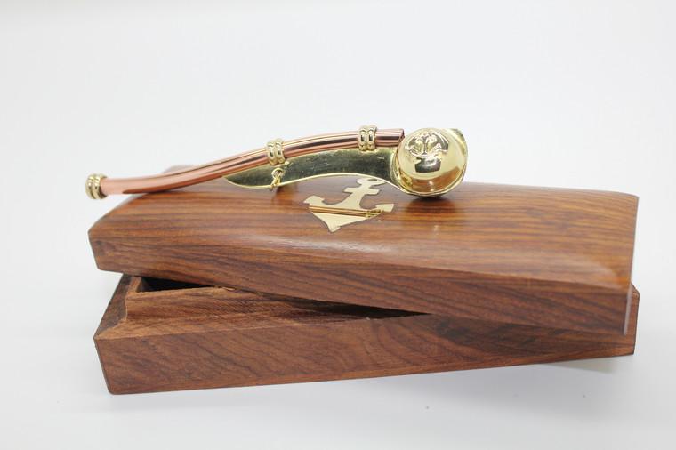 Boatswain Call in Wooden Box (191)