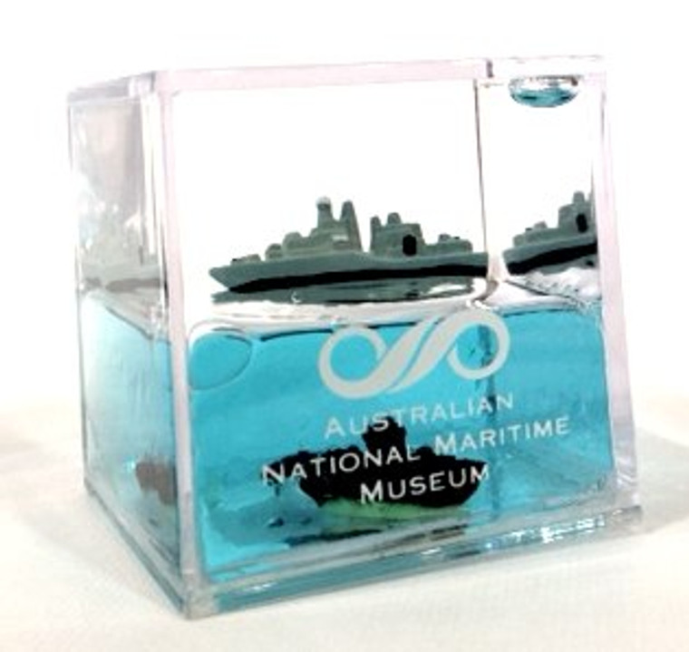 Water Cube Paperweight - HMAS Vampire & HMAS Onslow (7772)