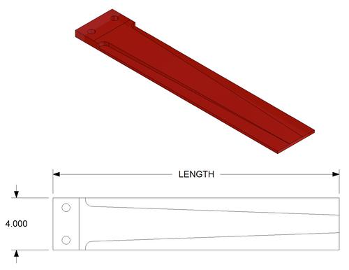 "Durable Blast Parts,DBP-680466   36"" Urethane Finger Seal"