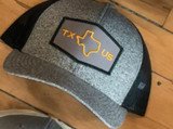 Texas Us Snapback Cap - Heather Black / Black