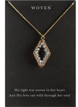 """Woven 18"""" Gold Necklace"""