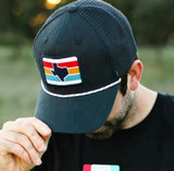 Texas Stripes Trucker Hat