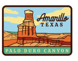 Amarillo Palo Duro Canyon Sticker