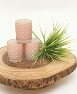 Pink Glass Sweet Grace Votive Candle