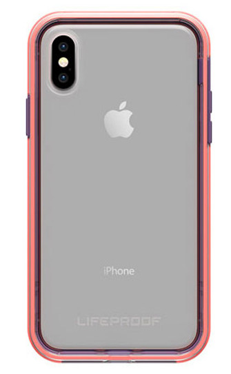 timeless design 4c323 a2f2b LifeProof SLAM Case for iPhone X/Xs - Clear/Coral/Lilac