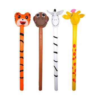 Inflatable Jungle Animals Stick 118cm AssortedDesigns