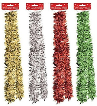 2m Christmas Tree Decoration Tinsel Garland
