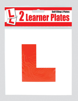 2 Self Cling Red L Learner Plates