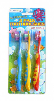 Pack of 3 Children's Toothbrushes