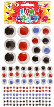 12 Sets of Craft Kit Eyes 4 Astd Sizes