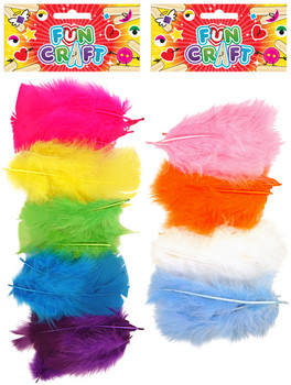 12 Sets of Craft Kit Feathers 2 Astd