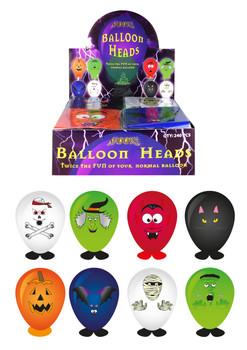 Balloon Heads Halloween 8 Assorted Colours