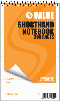 """300 pages 5x8"""" Value Shorthand Spiral Notepad"""
