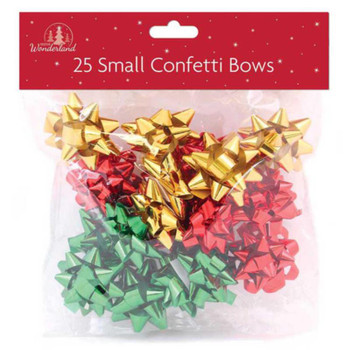 25 Luxury Small Bows Classic Christmas