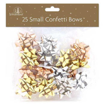25 Luxury Small Bows Lux Metallics