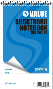 """160 pages 5x8"""" Value Shorthand Spiral Notepad"""