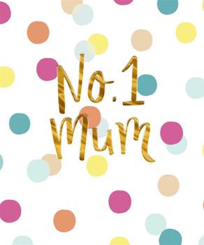 Hallmark Mum Mother's Day Card 'No1' - Medium