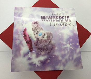 3D Holographic Wonderful Christmas Me to You Bear Christmas Card