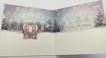 3D Holographic Both Of You Me to You Bear Christmas Card
