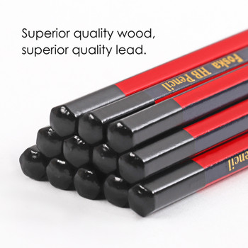 Pack of 12 Wooden HB Pencils