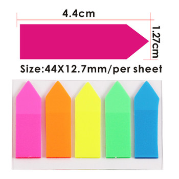 Pack of 125 Assorted Colour Page Markers - Index Sticky Notes