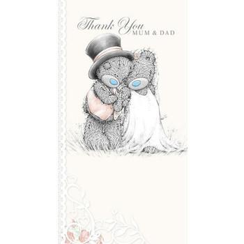 Me to You Thank You Mum and Dad Wedding Greeting Card - Tatty Teddy Bear