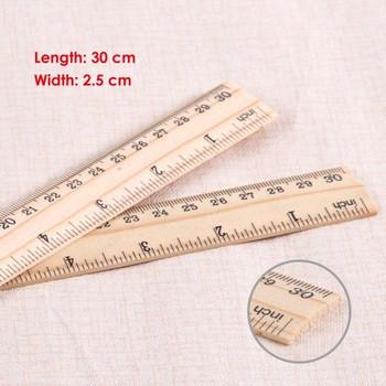 "30cm Wooden Ruler (12"" Rule)"