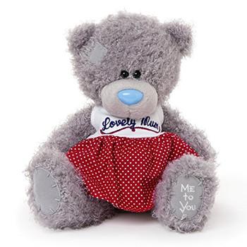 Me to You 7-inch Tatty Teddy Bear Wearing a Lovely Mum Dress (Grey)
