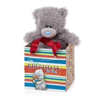 Me to You 5-inch Tatty Teddy Bear and Happy Birthday Gift Bag (Grey)