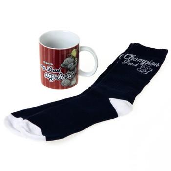 Me to You Tatty Teddy Dad Mug and Socks, Set of 2
