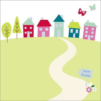 New Home Announcement Pack of 8 Cards and Envelopes