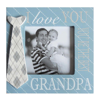 I love you You're the best Grandpa Wooden Photo Frame