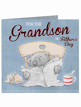 Me To You Tatty Teddy Father's Day Card - From your Grandson on Father's Day