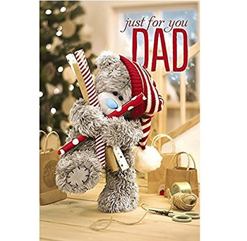 3D Holographic Me To You Tatty Teddy New Cute Christmas Greeting Card - Dad