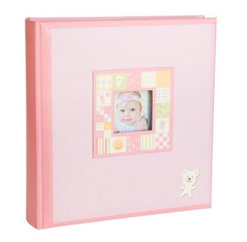 Baby Girl Pink Slip In 6x4 Photo Album - 200 Photos