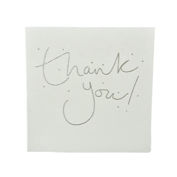 Pack of 8 Glitter Finished Thank You Cards by Carlton
