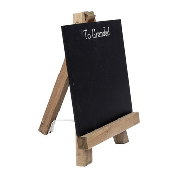 To Grandad Personalisable Chalkboard Easel with Chalk