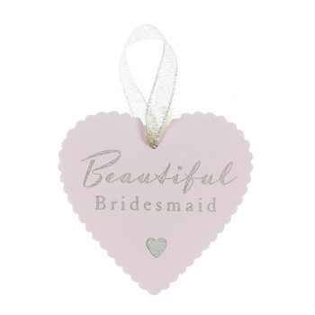 Amore Heart Tag 'Bridesmaid' Wedding Favour Table Setting Gift