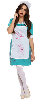 Adult Bloody Nurse Fancy Dress Up Costume