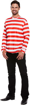 Adult Striped Jumper Fancy Dress Up Costume