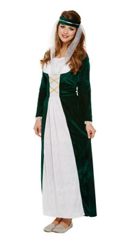 Adult Medieval Maiden Fancy Dress Up Costume