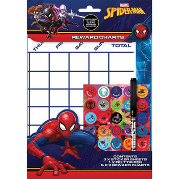 Ultimate Spiderman Reward Charts Sheet with Stickers