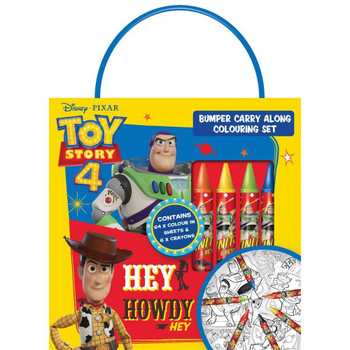 Toy Story 4 Bumper Carry Along Colouring Set