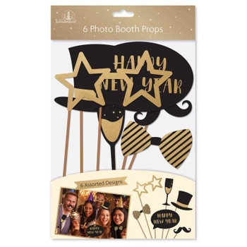 Pack of 6 New Year Photo Booth Props