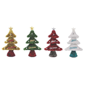 Christmas Tinsel Table Decoration - Tree